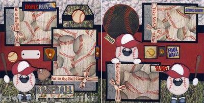 Baseball Boy 2 Premade Scrapbook Pages Paper Piecing 12x12 Scrapbooking Cherry | eBay