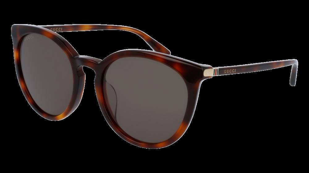 0f6e9132e9b Gucci - GG0064SK-005 Avana Sunglasses   Green Lenses