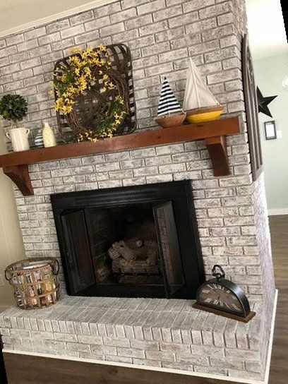35+ The Top Color Ideas For Painting A Brick Fireplace | Fireplace Tv Wall | 2020