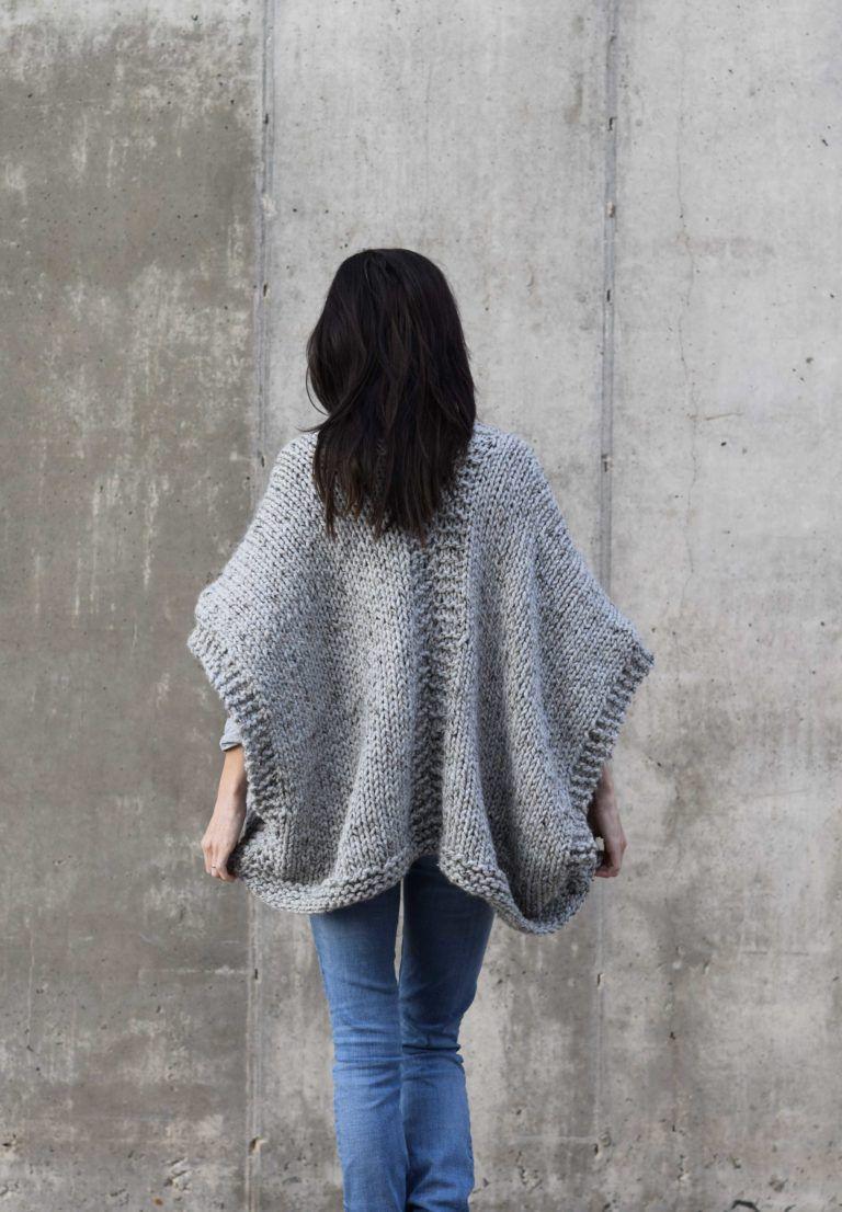Telluride Easy Knit Kimono Pattern – Mama In A Stitch | Sweater ...