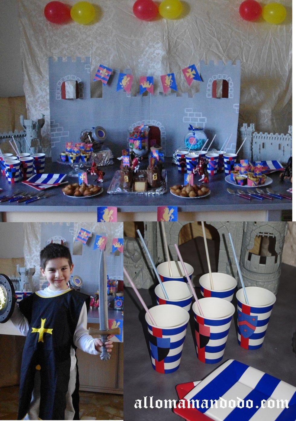 Un anniversaire de chevalier (Sweet Table + Idées déco DIY + Kit à imprimer