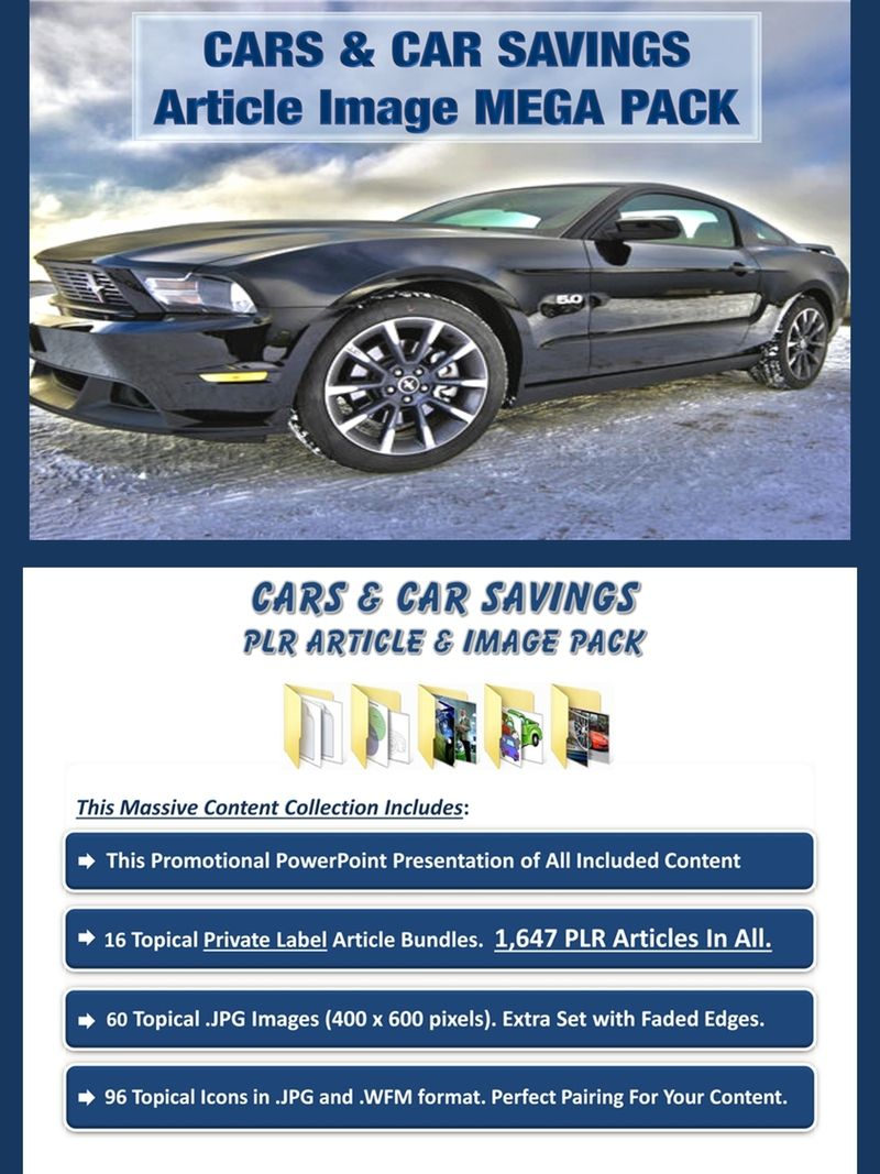 Cars And Car Savings Article Image Mega Pack Done For You Value