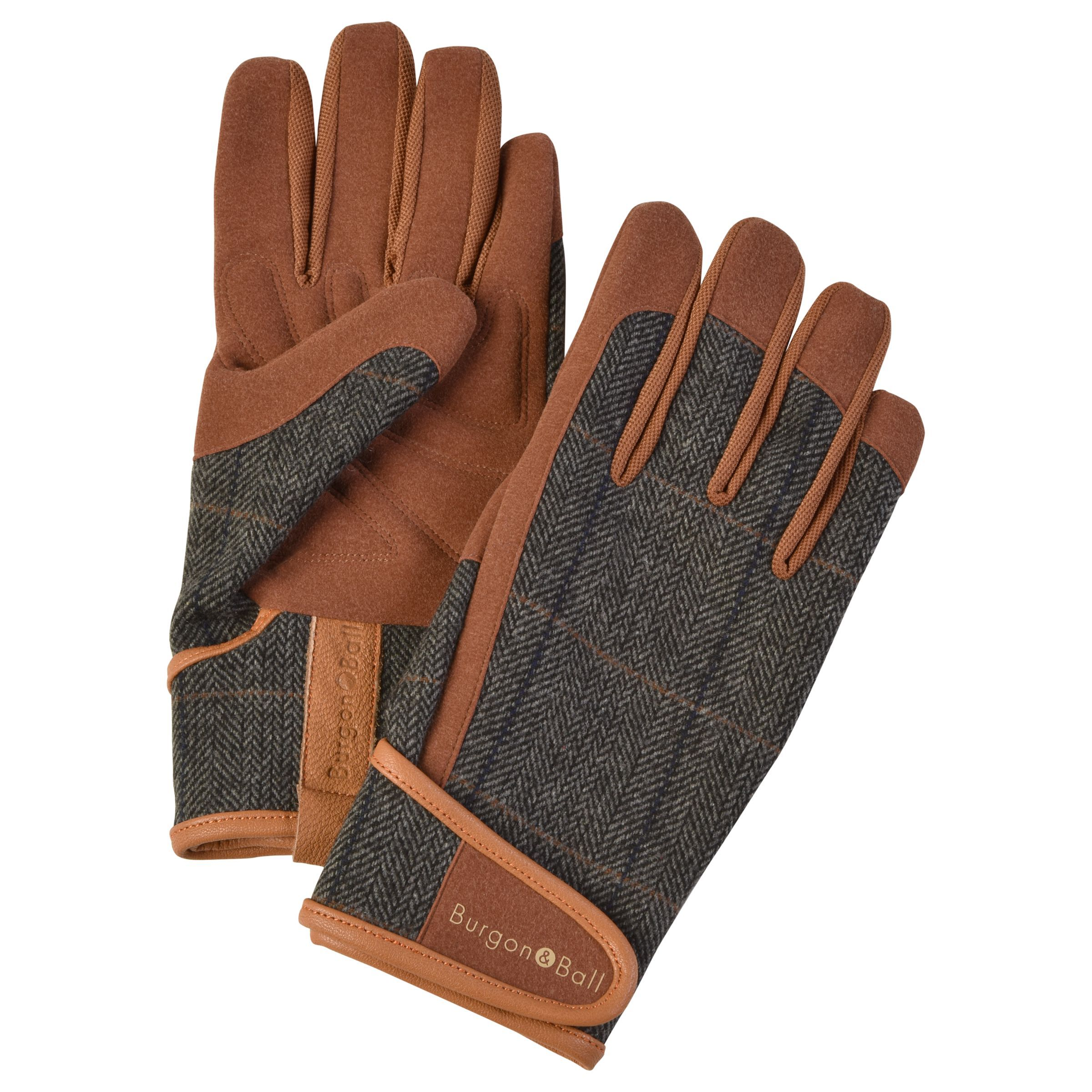 Burgon Ball Tweed Gardening Gloves Large Brown In 2020