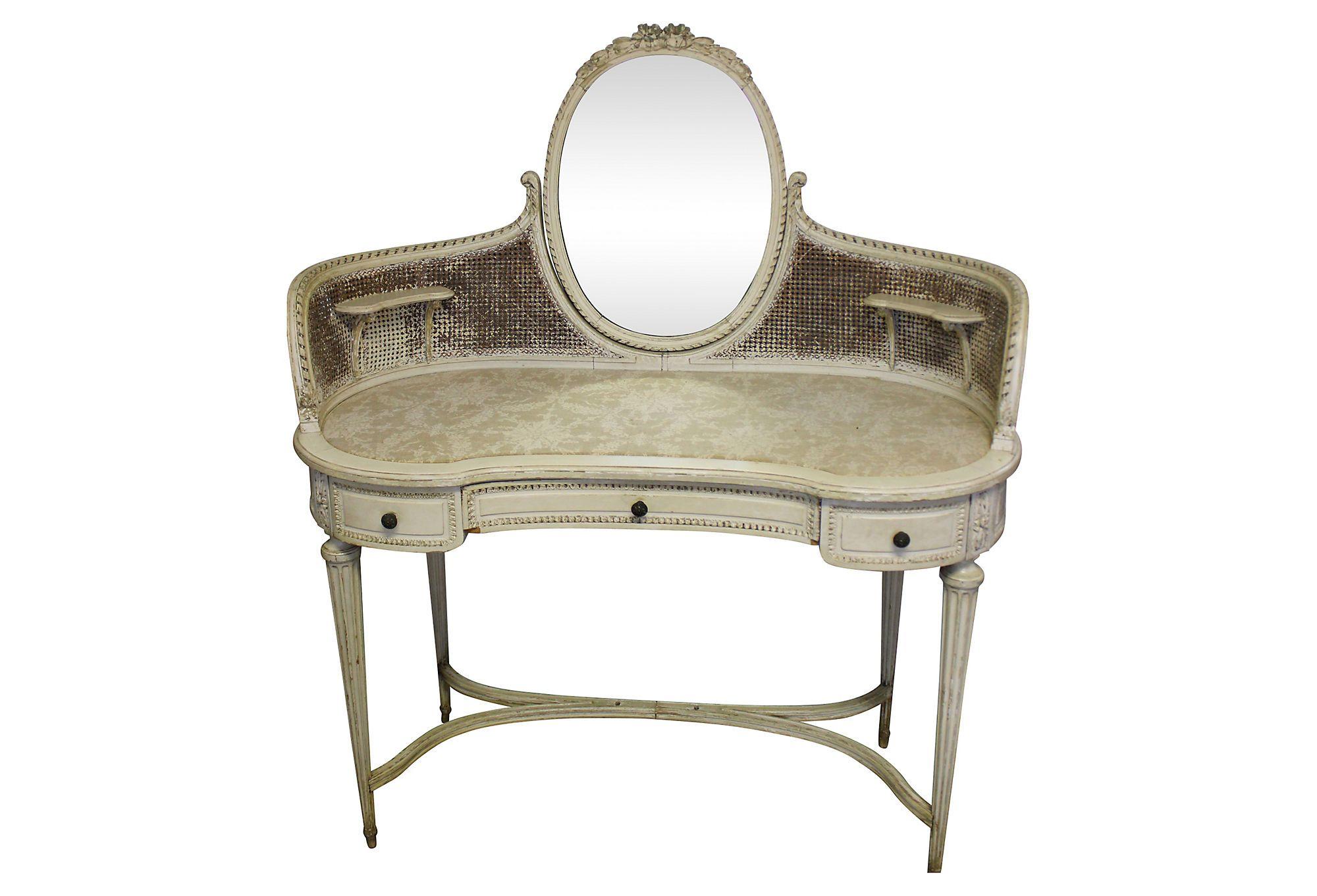 One kings lane inner sanctum vanity table w mirror dressing one kings lane inner sanctum vanity table w mirror geotapseo Images
