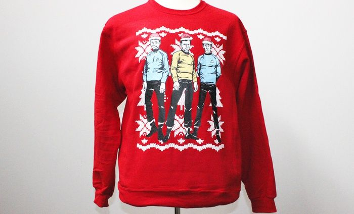 Ugly Christmas Sweaters Deal Of The Day Star Trek Fashion