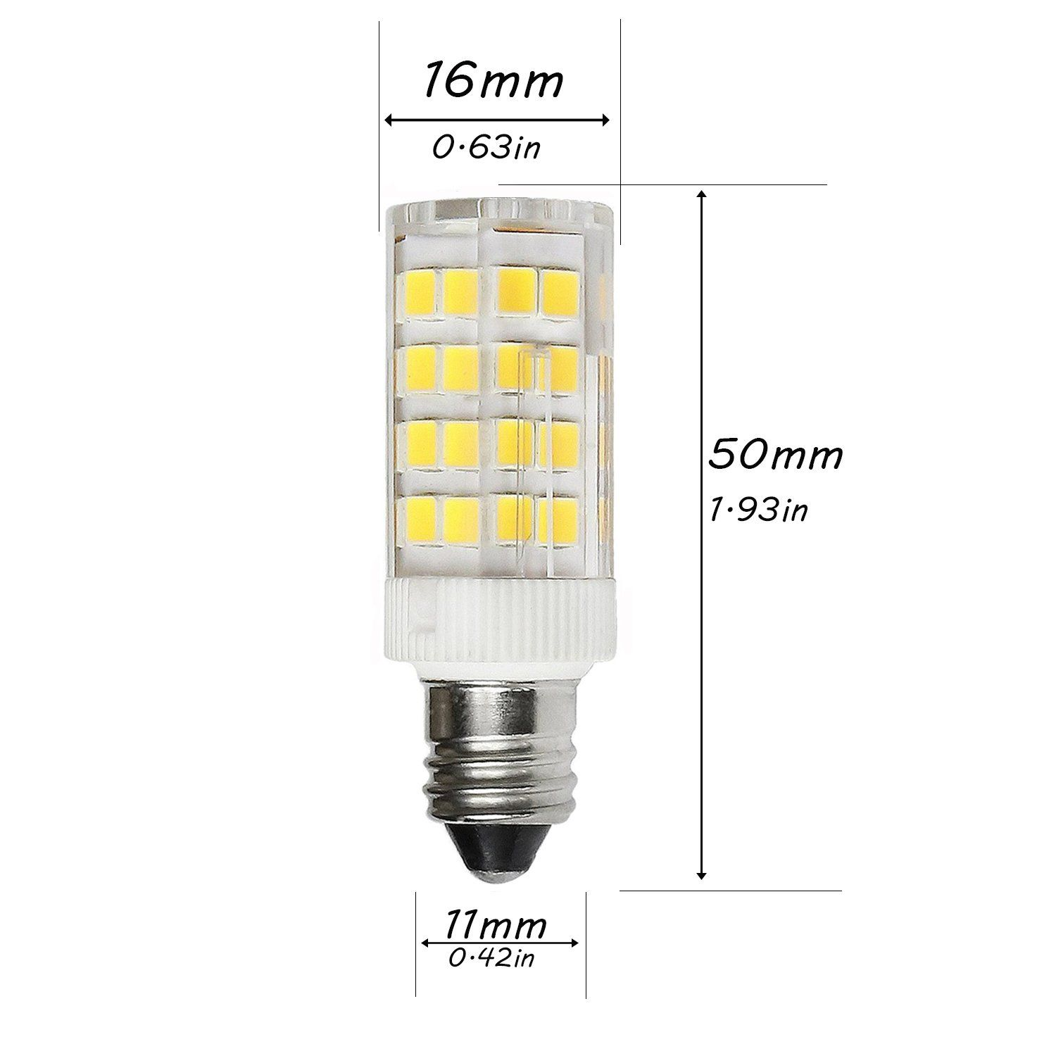 4 5w Dimmable E11 Led Light Bulb 40w Halogen Bulbs Equivalent Mini Candelabra E11 Base Daylight 6000k T3 T4 Omnidirectional Light Bulb Led Bulb Led Light Bulb