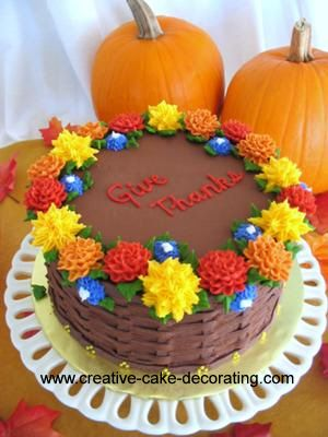 Fall Cake Decorating Ideas With Images Cake Decorating