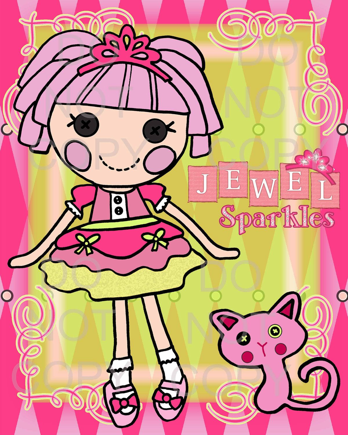 Printable Princess Doll Wall Art by onelovedesignsllc on Etsy, $5.00 ...