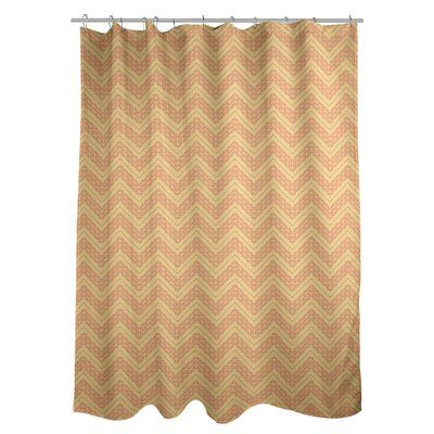 East Urban Home Classic Hand Drawn Chevron Single Shower Curtain