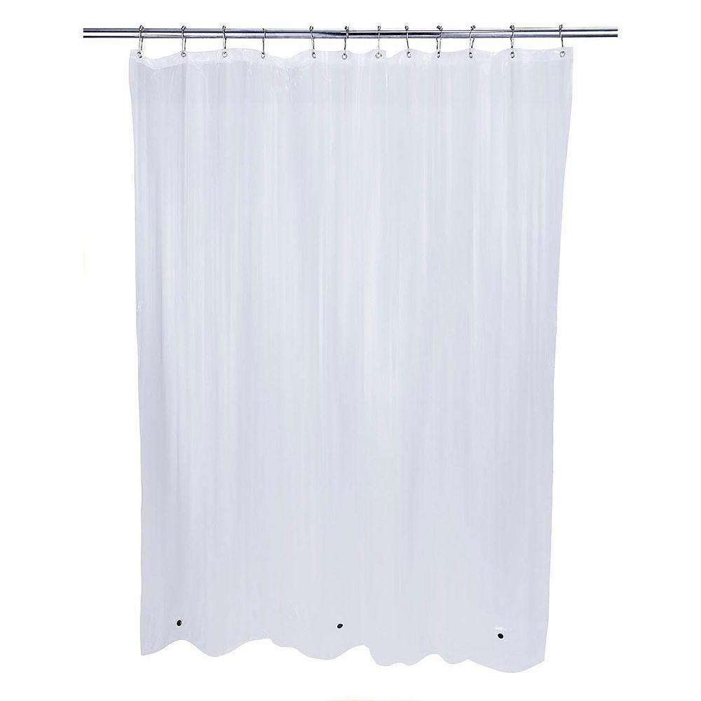 Bath Bliss EVA Mildew Resistant Shower Curtain Liner Grey
