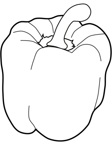 Pepper Coloring Page : pepper, coloring, Sweet, Pepper, Coloring, Vegetable, Pages,, Fruit, Stuffed, Peppers