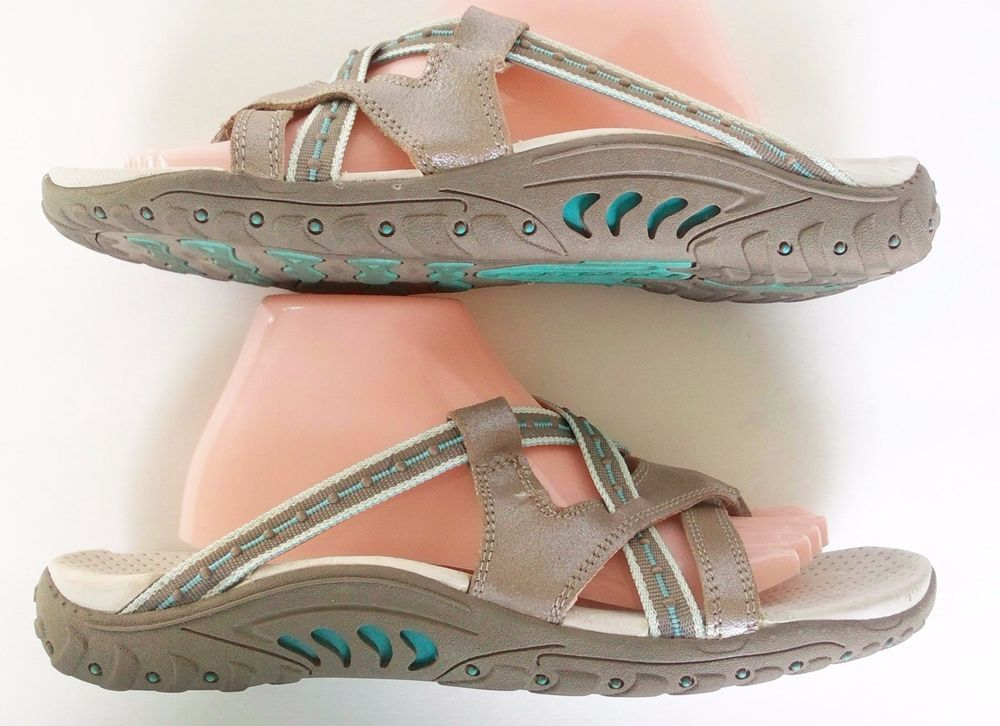 48ebc3f5288 Skechers Outdoor Lifestyle Brown Leather Upper Sandals Thong Ladies   Size  11  SKECHERS  SANDALS