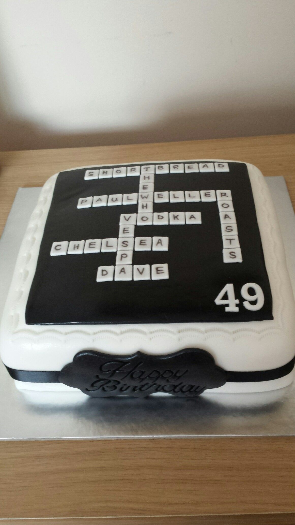 Crossword cake tartas