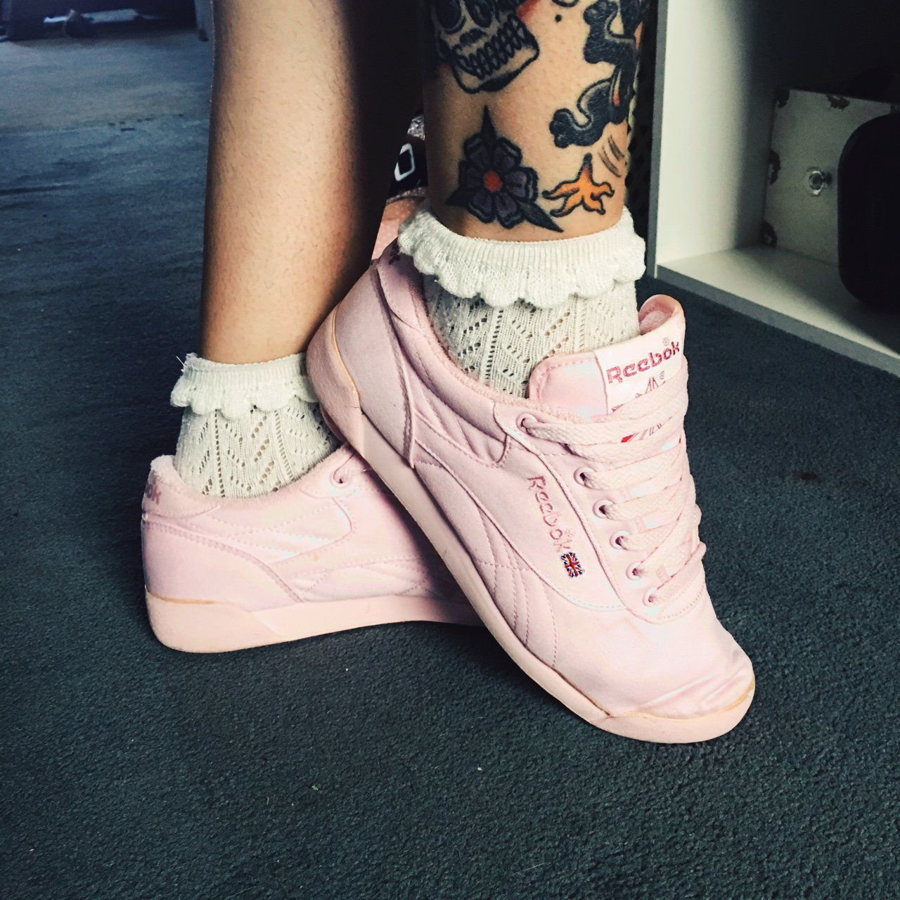 0319e336003e3 Bubble gum pink vintage Reebok s late 80s era terry cloth inside normal wear  new condition when I thrifted them I wore them handful of times only minor  ...
