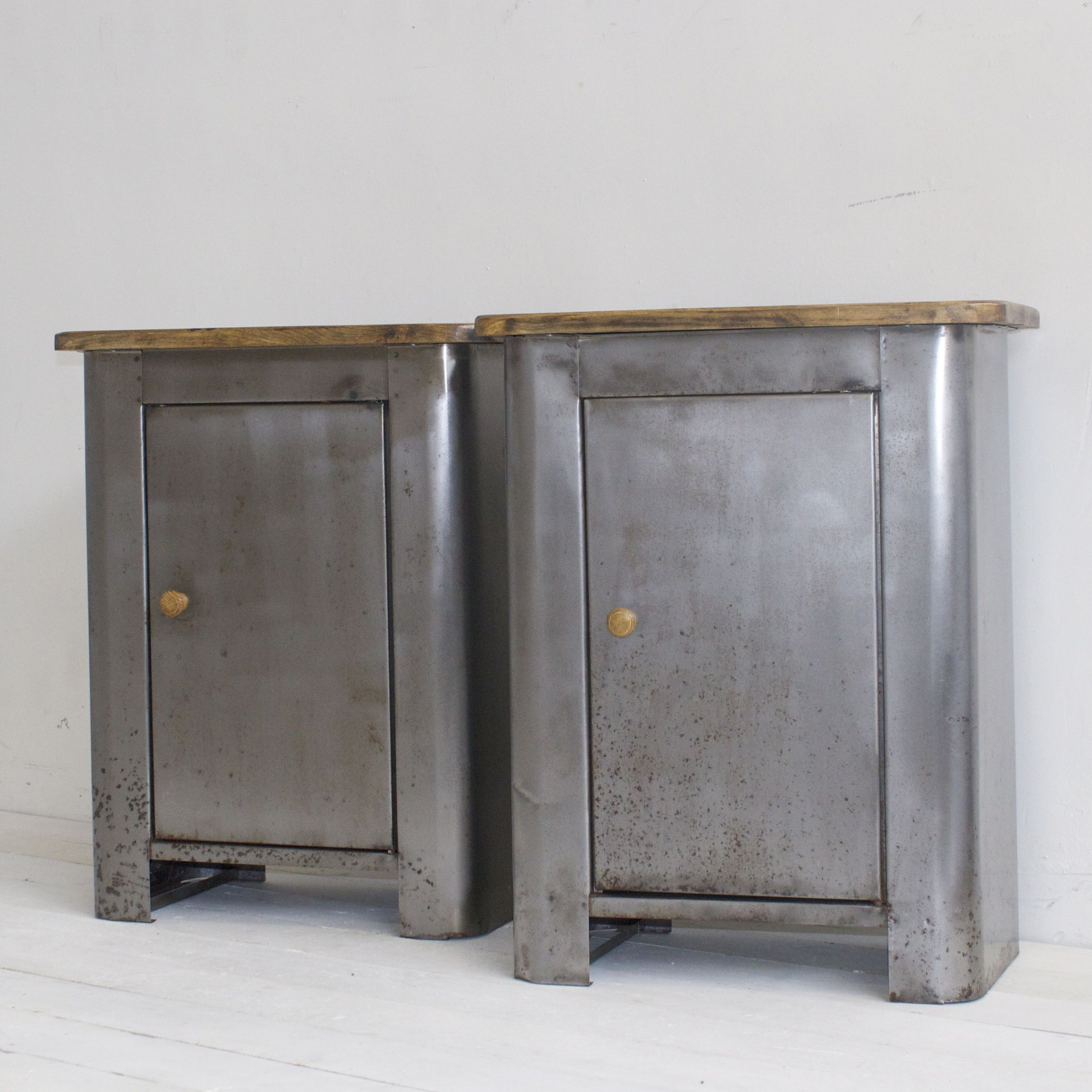 Armoire Metal Blanc Stripped Polished Industrial Metal Cabinets Designvintage Co