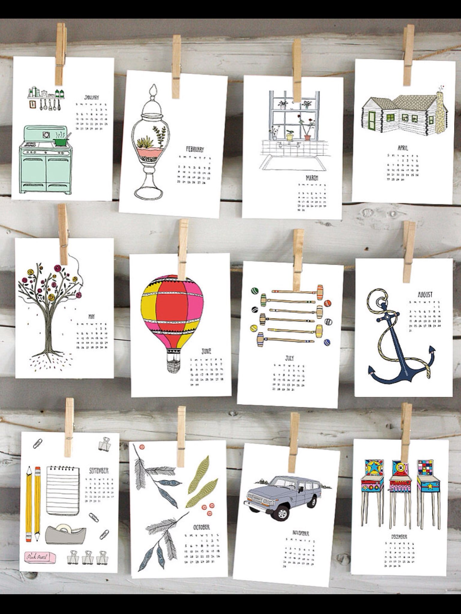 Illustration Calendar Design : Calendar ideas desktop calendars pinterest