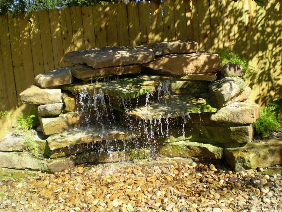 Decorating amazing backyard waterfalls design ideas for Garden waterfall design