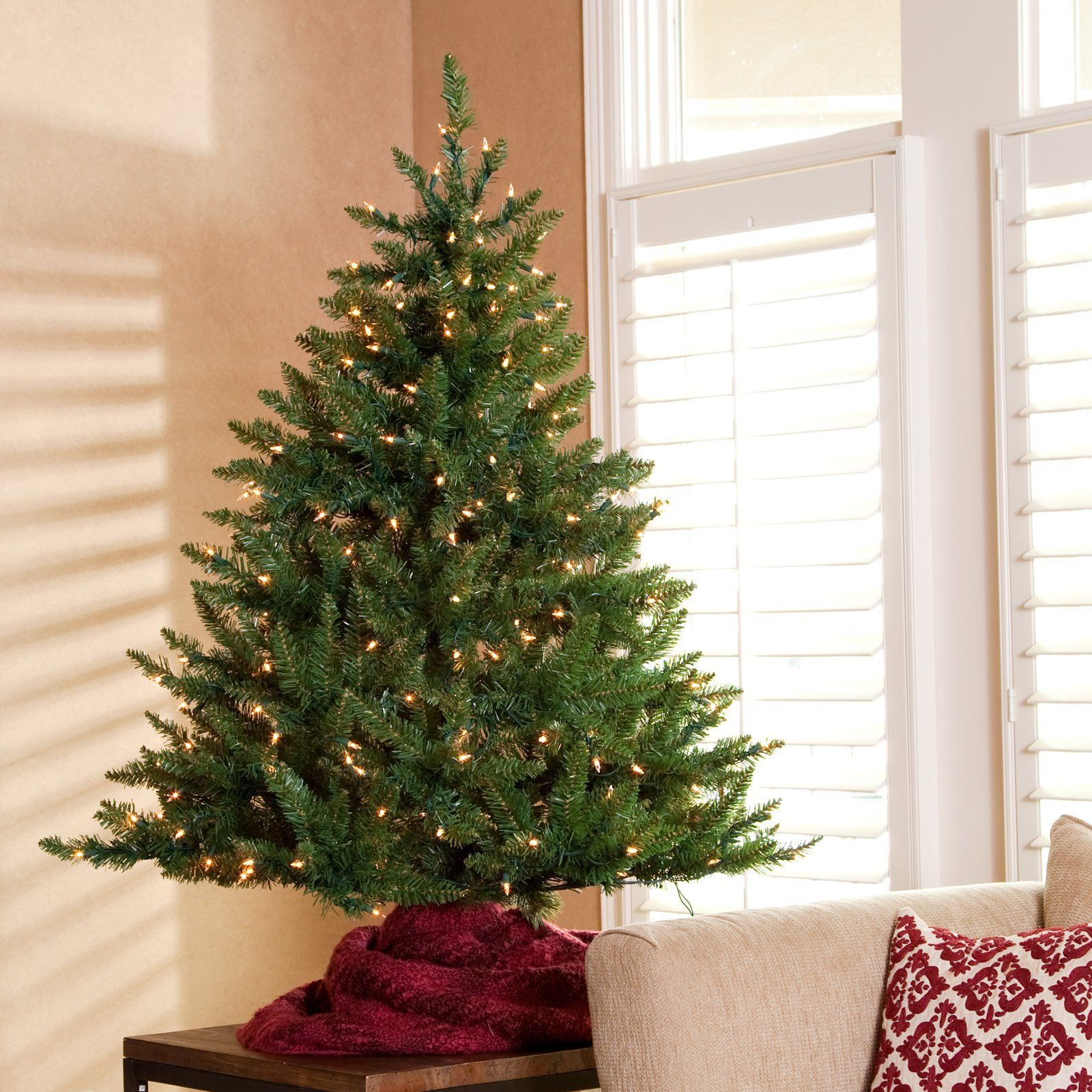 Classic Tabletop Pre-lit Christmas Tree -4.5 ft. - The Classic ...