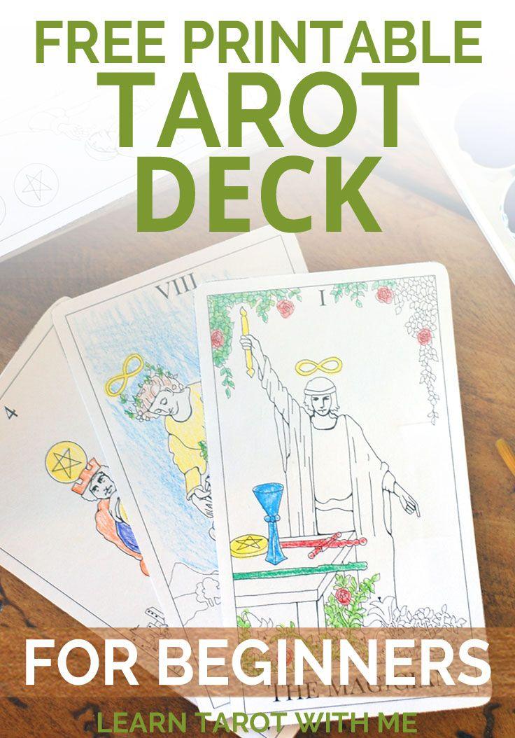 Printable tarot deck from the simple tarot free tarot