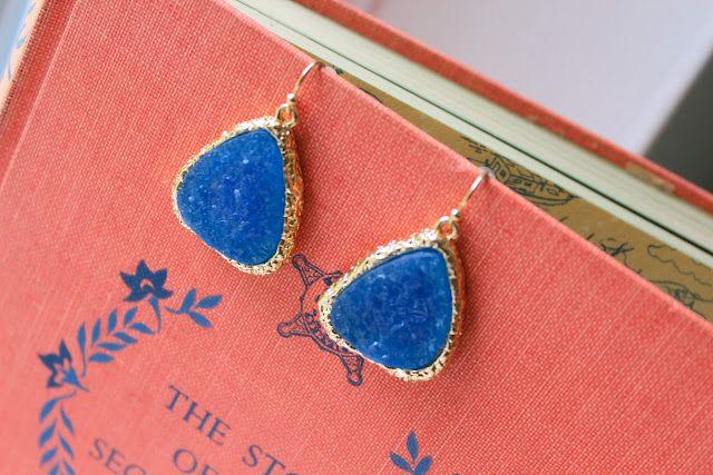 royal blue drops of druzy