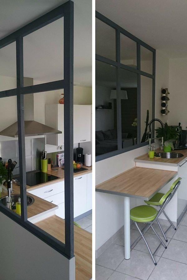 une fausse verri re pour un look industriel urbain dans la cuisine verri re cuisines. Black Bedroom Furniture Sets. Home Design Ideas