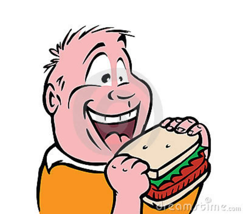hand drawn child images of sandwiches | Hungry Boy Stock Photography - Image: 5434202