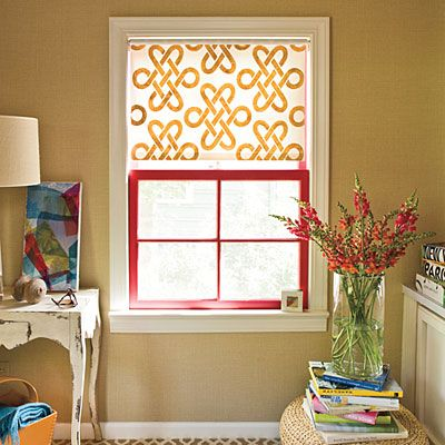 10 easy ways to freshen your decor pinterest stenciling window add life to boring shades make plain roller shades more interesting and beautiful by stenciling a design on them such as a monogram you can find stencils solutioingenieria Image collections