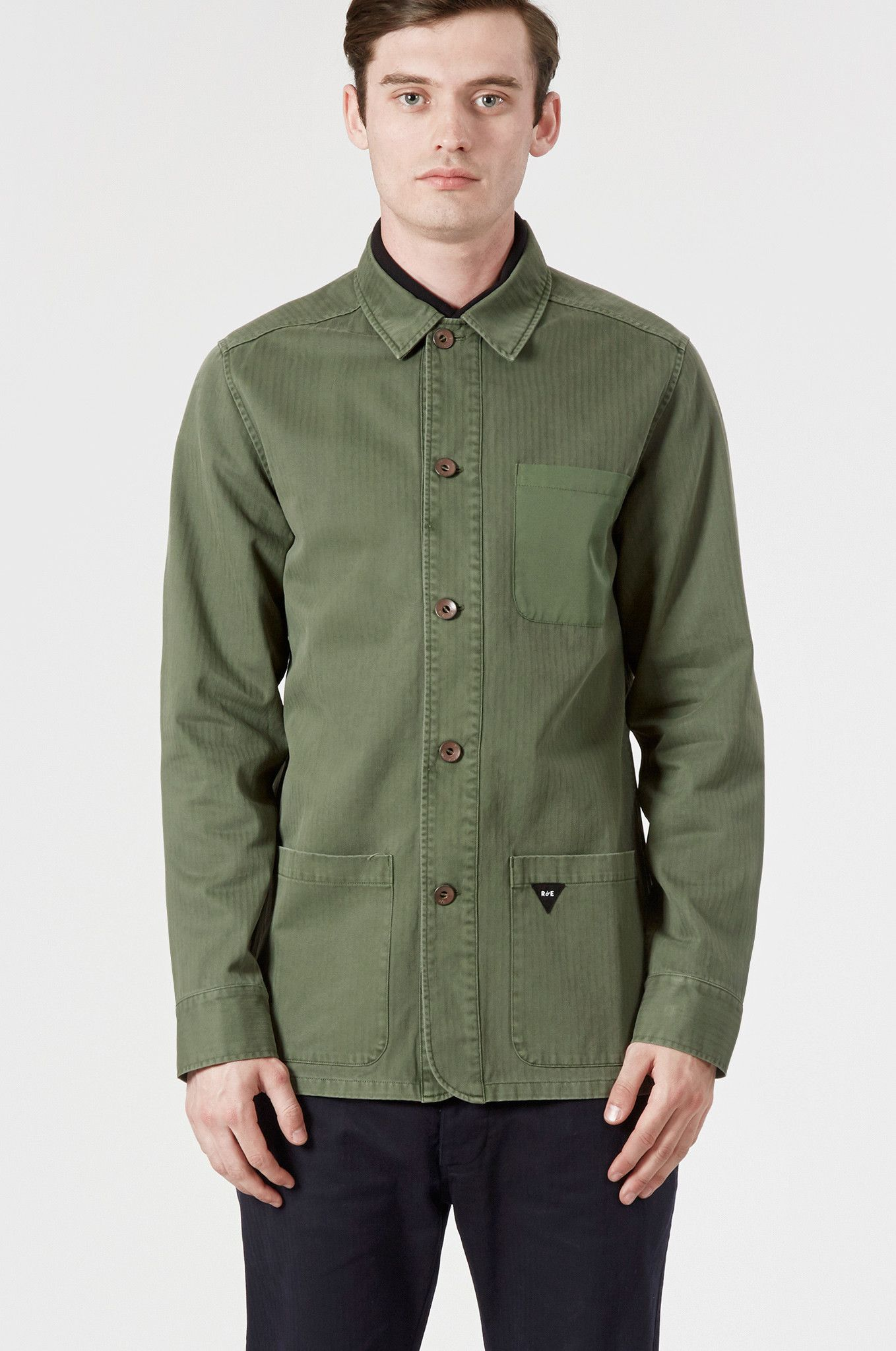 Khaki Green Olive Overshirt | Lightweight Jacket | Realm & Empire ...