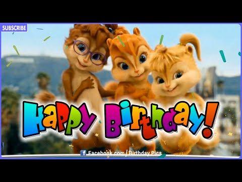 Chipmunks Happy Birthday Song Youtube Happy Birthday Song
