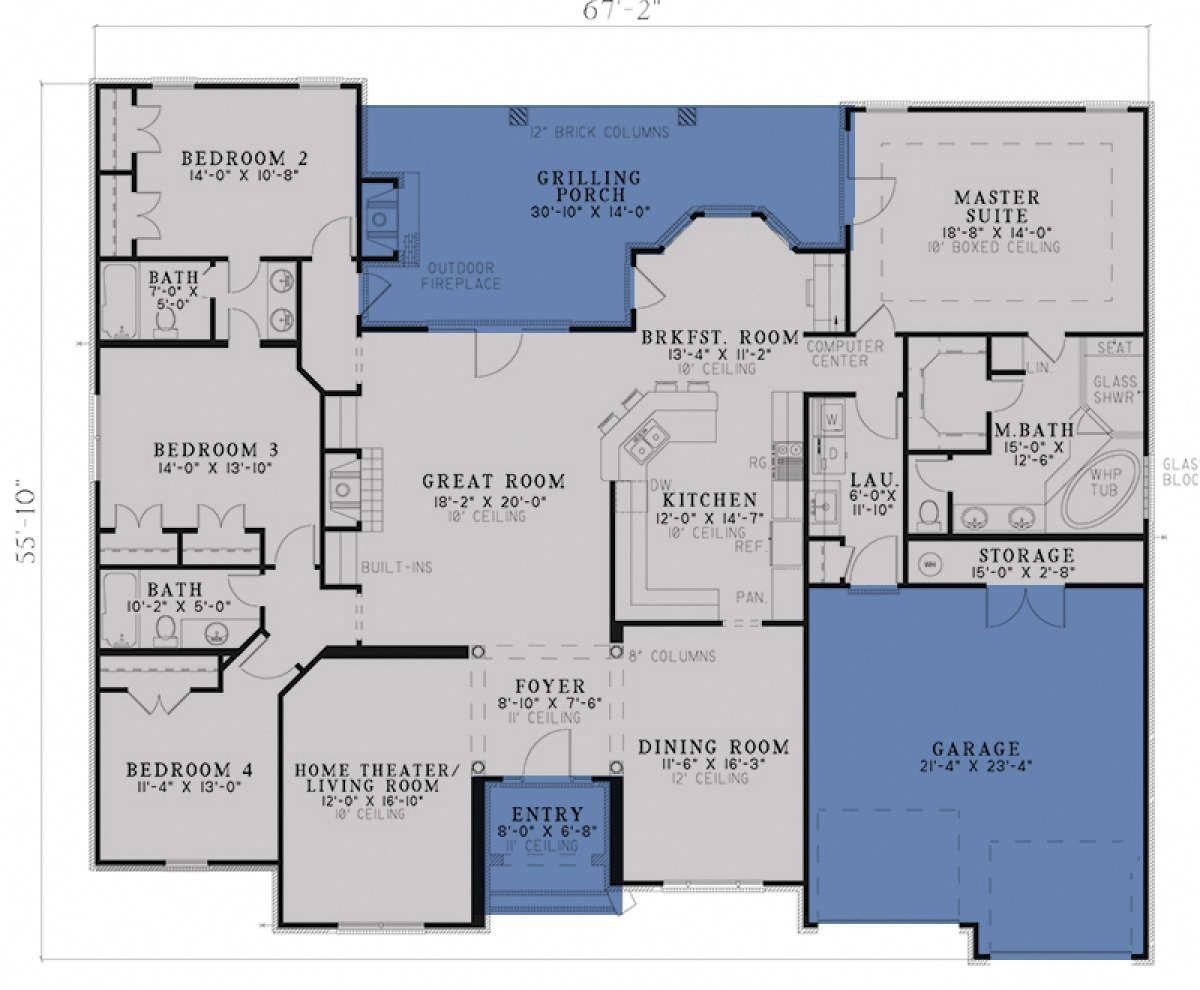 Home Designs Perth 4 Bedroom House Plans House Blueprints Bedroom House Plans