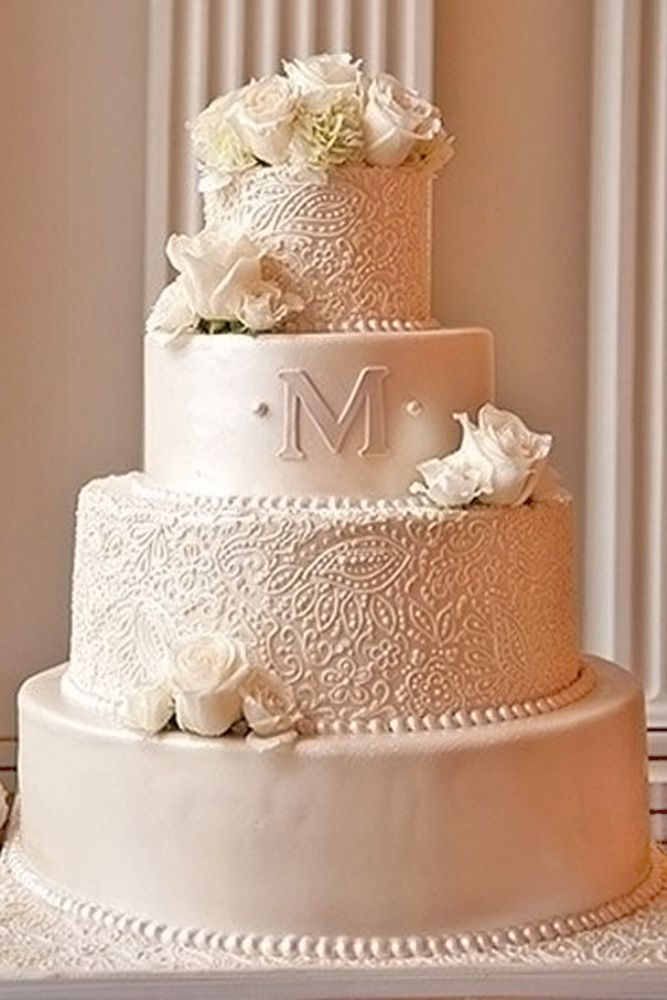 30 Beautiful Wedding Cakes The Best From Pinterest Wedding Cake Pictures Monogram Wedding Cake Wedding Cake Inspiration