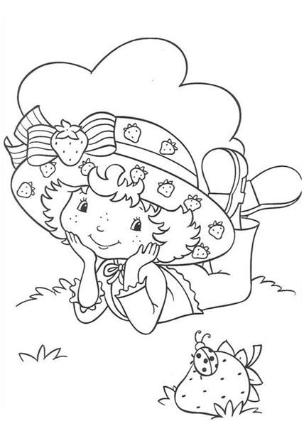 Strawberry Shortcake Pcoloring Coloring Pages Fun Strawberry