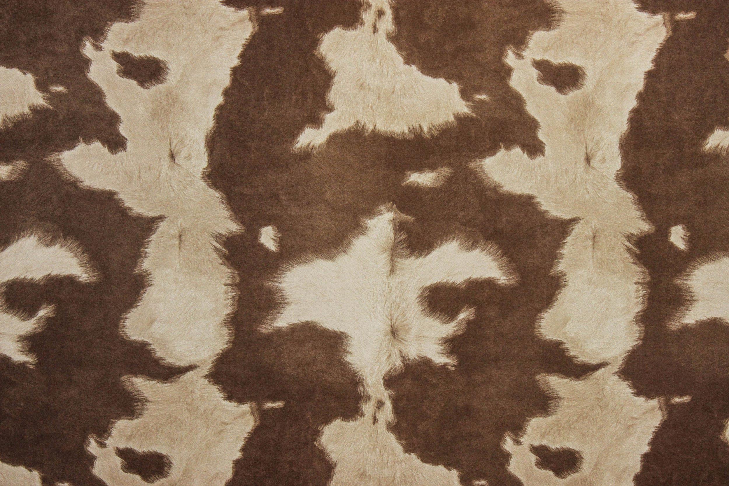 Cowhide brownwhite cowhide fabric cowhide animal