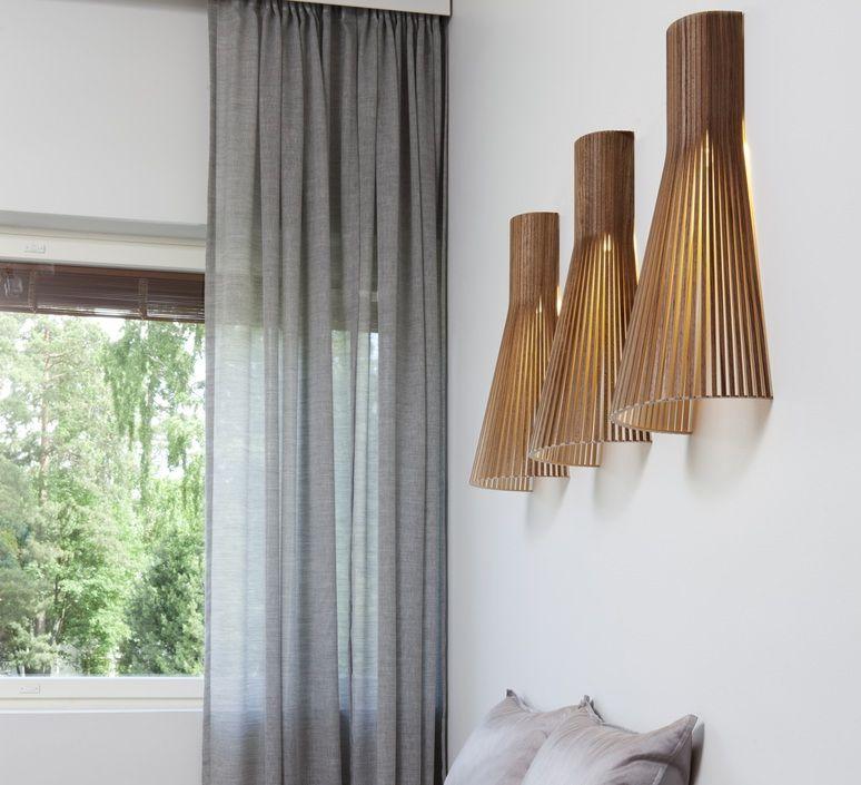 applique murale 4230 noyer h60cm secto design la. Black Bedroom Furniture Sets. Home Design Ideas