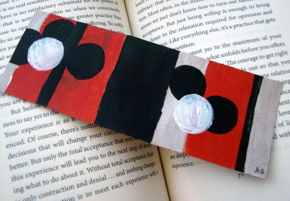 Original Black Red White Acrylic Abstract by ChanelledCreations, $6.00