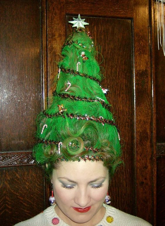 Diy Christmas Tree Costume Cute X Mas Idea Maskerix Com Tacky Christmas Party Christmas Tree Hair Tacky Christmas