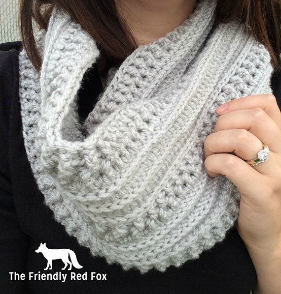 The Ribs and Ridges Scarf Free Crochet Pattern | Collares crochet ...
