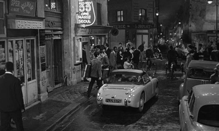 1958 Austin-Healey Sprite 'Frogeye' in 'Paris Blues' movie, 1961