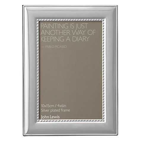 12 Buy John Lewis Adlburgh Silver Plated Photo Frame 4 X 6 10 X