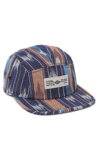 e544323a46f6f PacSun presents the Coal The Richmond Camper 5 Panel Hat for men. This colorful  men s