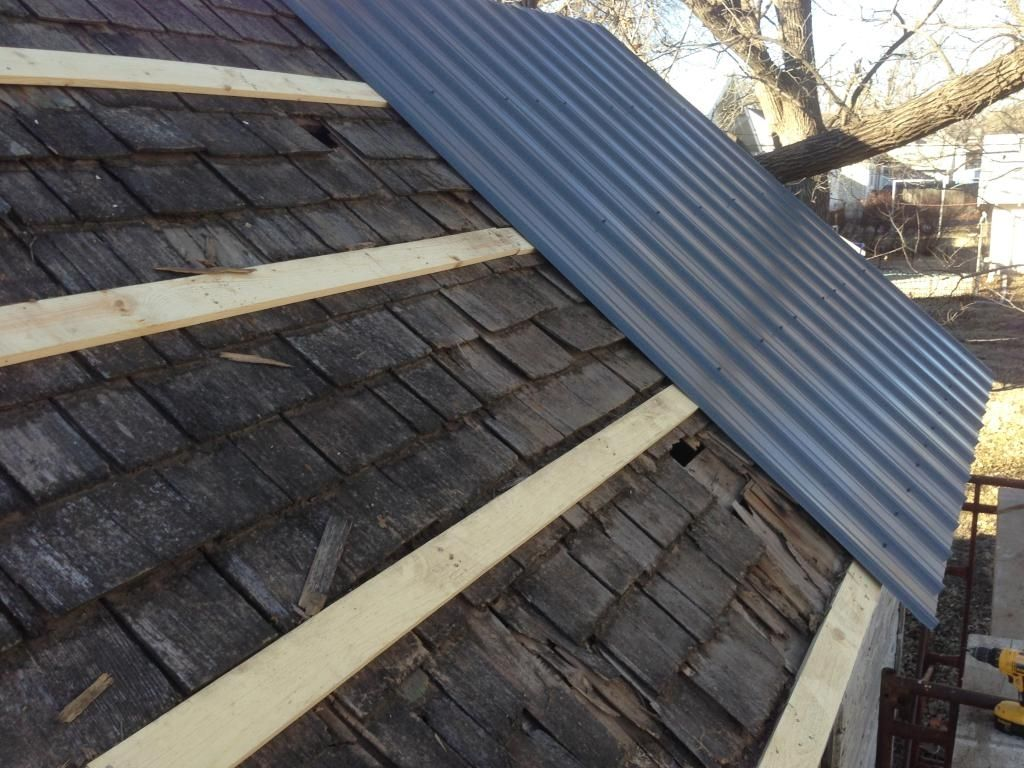 Metal Roof Purlins Over Shingles Corrugated metal roof