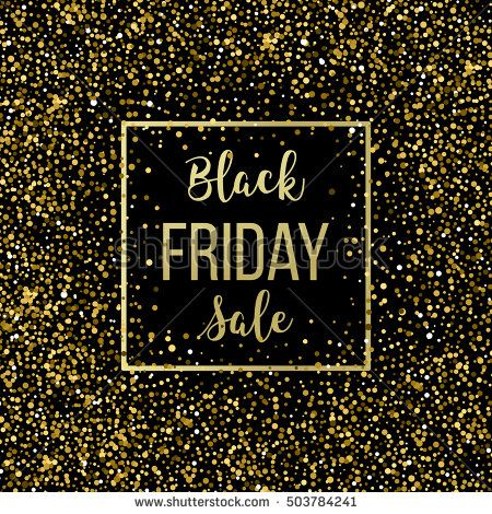 Golden Black Friday sale lettering background Template for your - fresh younique gift certificate template