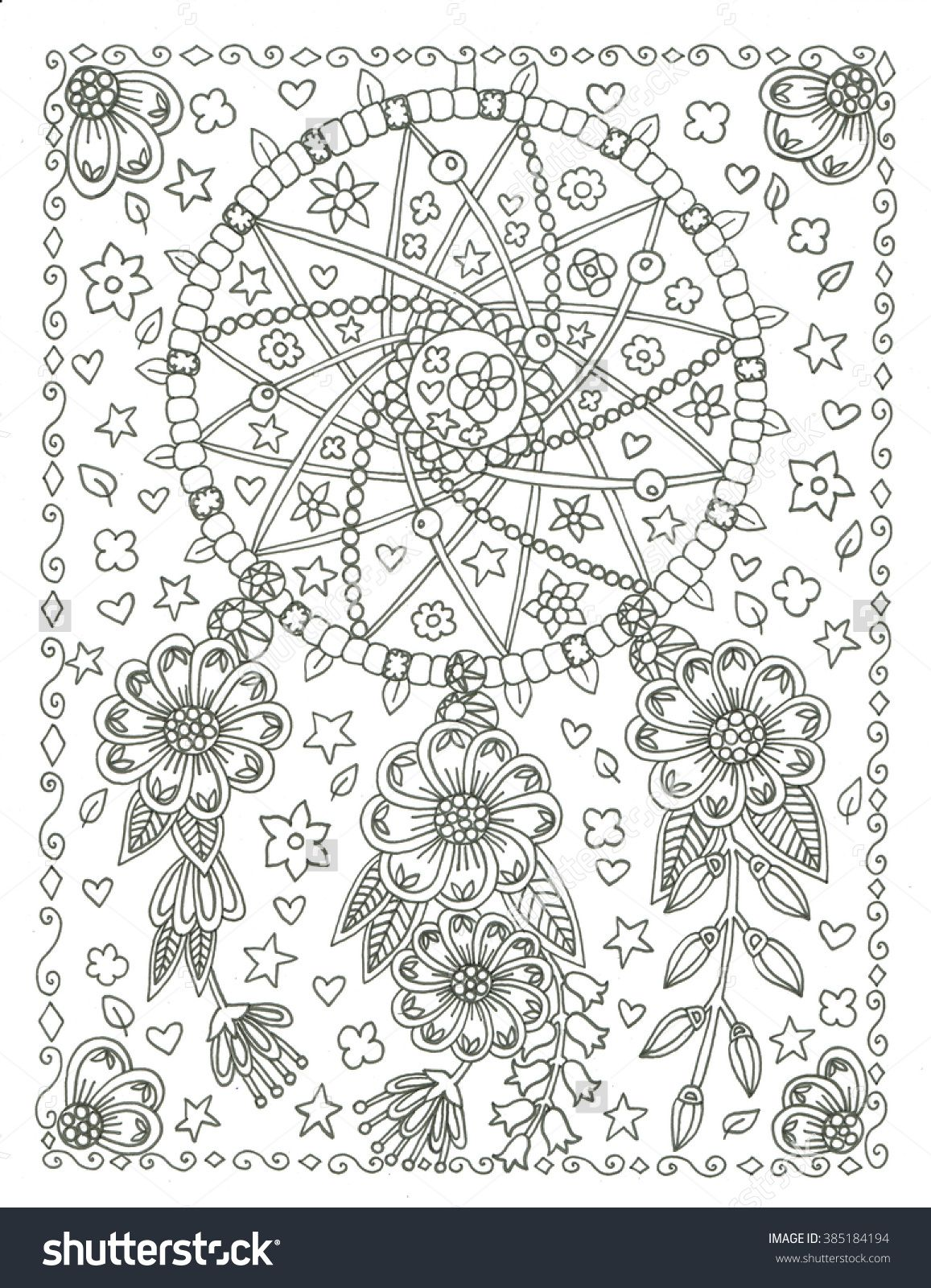 Dream catcher coloring page Zentangles