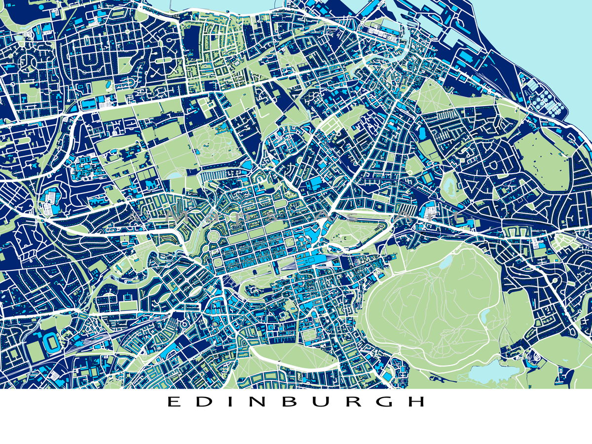Find your favourite places on this Edinburgh city map This