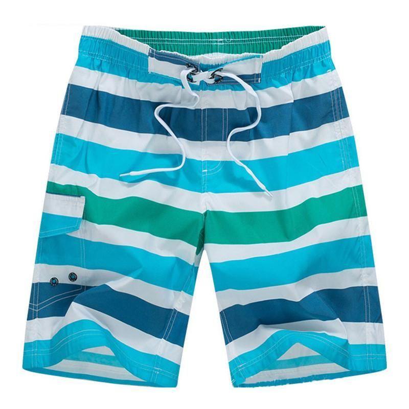 Striped Men Swim Short with side pocket