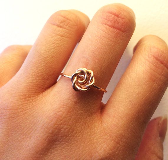 Rose Ring Rose Gold -14K Gold-Filled /Sterling Silver Wire -Flower ...