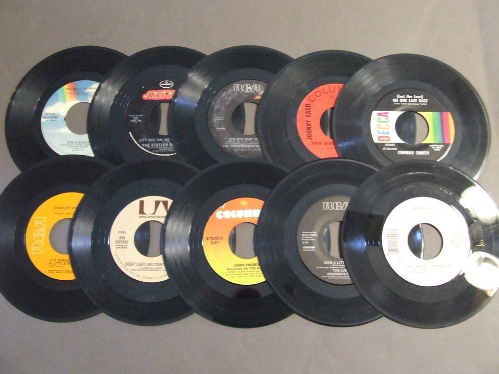 Lot 10 Vintage Vinyl 7 Inch 45 Records For Crafts Decoration Fast Shipping Diy Vinyl Decor Crafts 45 Records