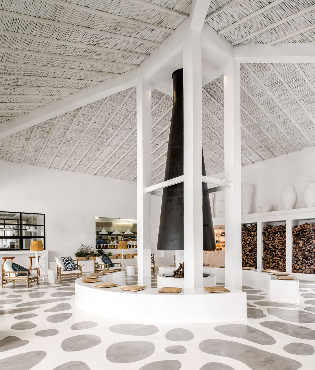 white lobby interior high ceilings vila monte algarve