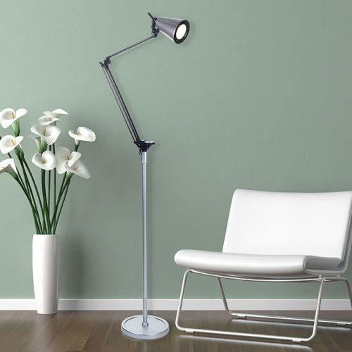 6 Foot Adjustable Floor Lamp - Silver