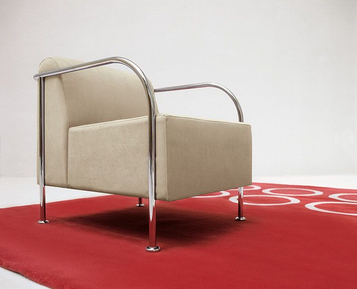 Butaca Moderna Bridge Crema - Modern Chair Bridge Crema Design - butacas modernas